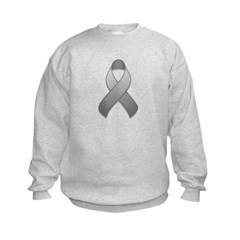 Gray Awareness Ribbon Sweatshirt