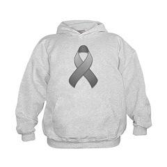 Gray Awareness Ribbon Hoodie