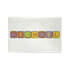 Michael Foam Squares Rectangle Magnet 10 Pack