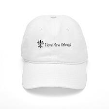 I Love New Orleans Fleur Baseball Cap