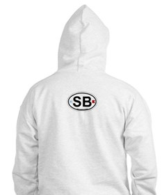 South Beach - Oval Design. Jumper Hoody