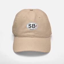 South Beach - Oval Design. Baseball Baseball Cap