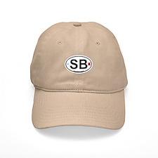 South Beach - Oval Design. Baseball Cap
