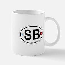 South Beach - Oval Design. Mug