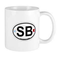 South Beach - Oval Design. Mug