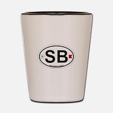 South Beach - Oval Design. Shot Glass