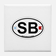 South Beach - Oval Design. Tile Coaster