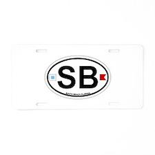 South Beach - Oval Design. Aluminum License Plate