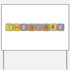 Theodore Foam Squares Yard Sign