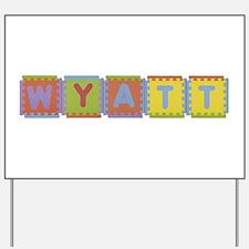 Wyatt Foam Squares Yard Sign