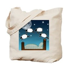 Bed Sky Counting Sheep at Night Tote Bag