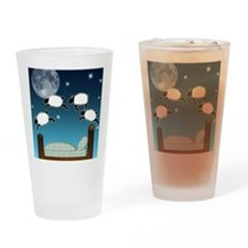 Bed Sky Counting Sheep at Night Drinking Glass