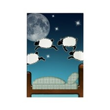 Bed Sky Counting Sheep at Night Rectangle Magnet
