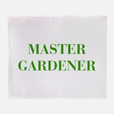 MASTER-GARDENER-BOD-GREEN Throw Blanket