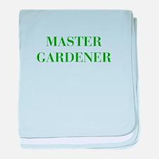 MASTER-GARDENER-BOD-GREEN baby blanket