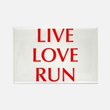 LIVE-LOVE-RUN-OPT-RED Rectangle Magnet