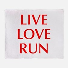LIVE-LOVE-RUN-OPT-RED Throw Blanket