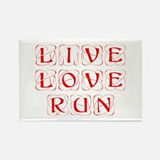 LIVE-LOVE-RUN-KON-RED Rectangle Magnet