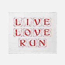 LIVE-LOVE-RUN-KON-RED Throw Blanket