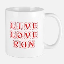 LIVE-LOVE-RUN-KON-RED Mug