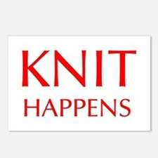knit-happens-OPT-RED Postcards (Package of 8)