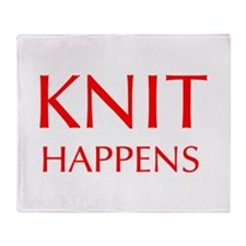 knit-happens-OPT-RED Throw Blanket