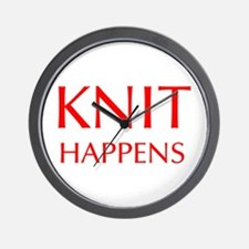 knit-happens-OPT-RED Wall Clock