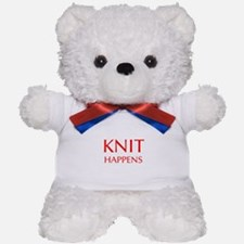 knit-happens-OPT-RED Teddy Bear