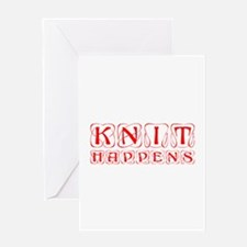knit-happens-KON-RED Greeting Card