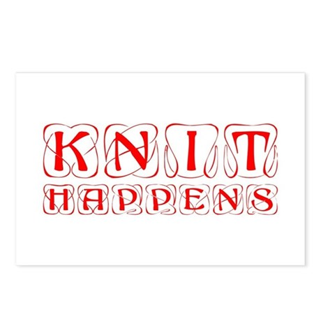 knit-happens-KON-RED Postcards (Package of 8)