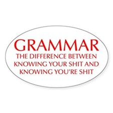 grammar-difference-OPT-RED Decal