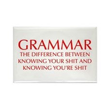 grammar-difference-OPT-RED Rectangle Magnet