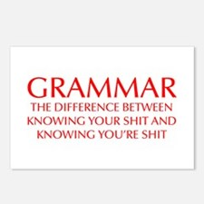 grammar-difference-OPT-RED Postcards (Package of 8
