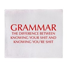 grammar-difference-OPT-RED Throw Blanket
