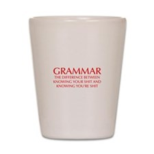 grammar-difference-OPT-RED Shot Glass