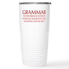 grammar-difference-OPT-RED Travel Mug