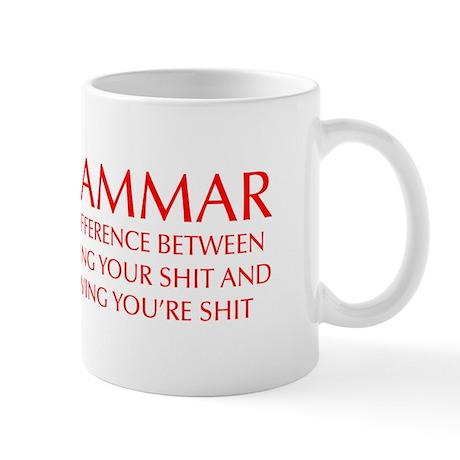 grammar-difference-OPT-RED Mug