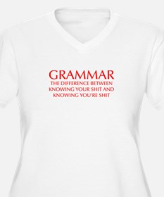 grammar-difference-OPT-RED Plus Size T-Shirt