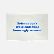Ugly Women Rectangle Magnet