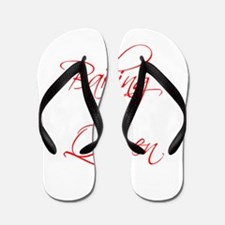 BAKING-QUEEN-scr-red Flip Flops