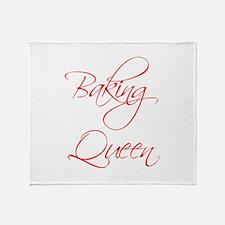 BAKING-QUEEN-scr-red Throw Blanket