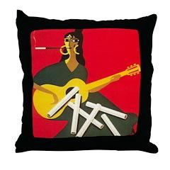 Gitanes 2 Throw Pillow