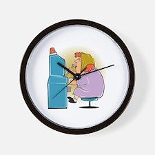 Slot Machine Grandma Wall Clock