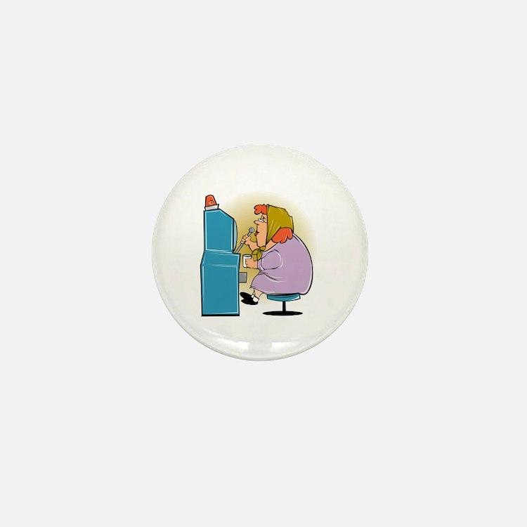 Slot Machine Grandma Mini Button