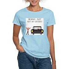 CAUTION NEW LICENSE Ash Grey T-Shirt