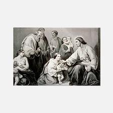 Jesus blessing little children - 1867 Magnets