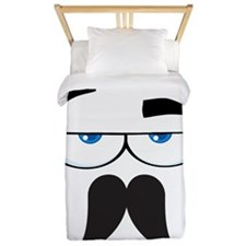 Funny Mustache Eyes Twin Duvet
