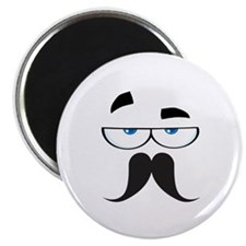 """Funny Mustache Eyes 2.25"""" Magnet (10 pack)"""