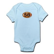 South Beach - Oval Design. Infant Bodysuit