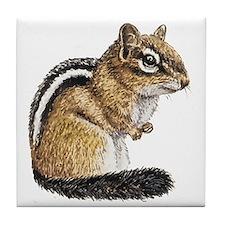 Chipmunk Cutie Tile Coaster